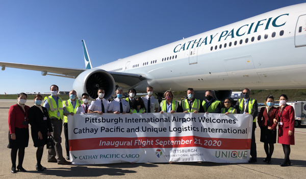 Preview: Cathay Pacific Airways Launches 12-week Cargo Service to Pittsburgh, Pennsylvania
