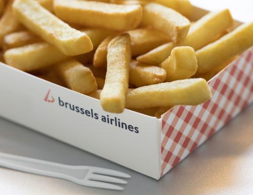 Les frites s'envolent avec Brussels Airlines