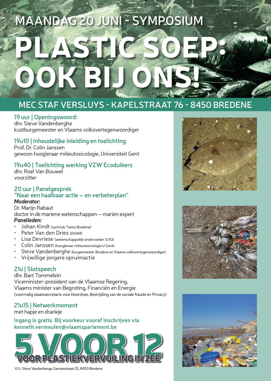 Uitnodiging Steve Vandenberghe: symposium plasticvervuiling