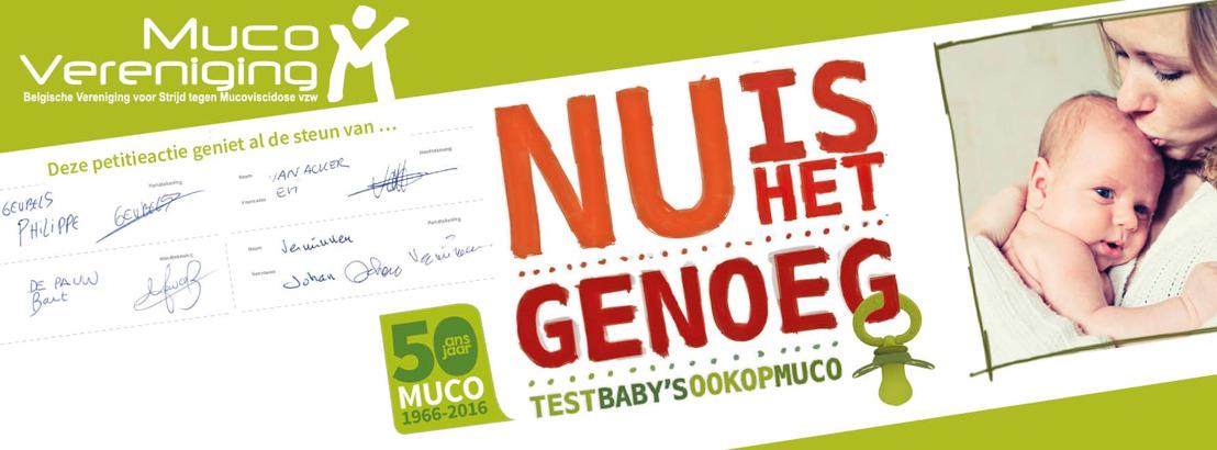 Meer dan 8.500 mensen vragen eindelijk invoering neonatale screening op mucoviscidose in België