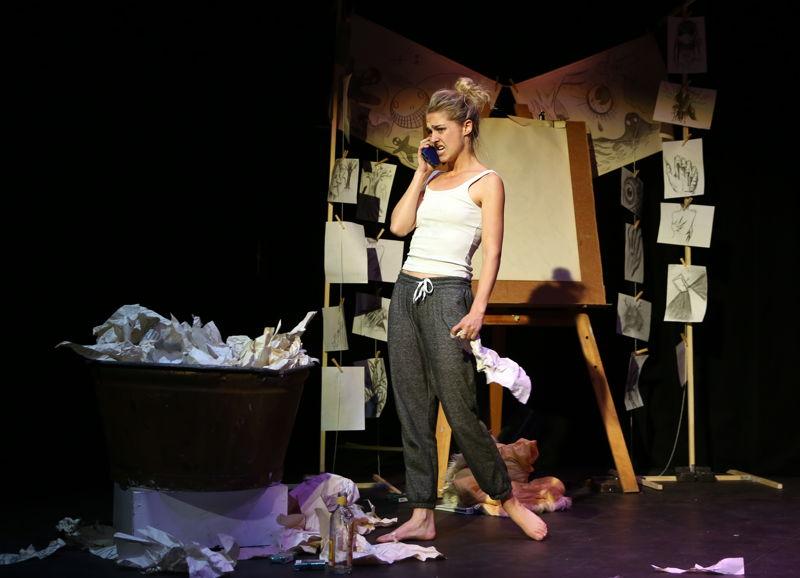 Monster with Kei-Ella Loewe - credit Nardus Engelbrecht Cape Town Fringe 2016