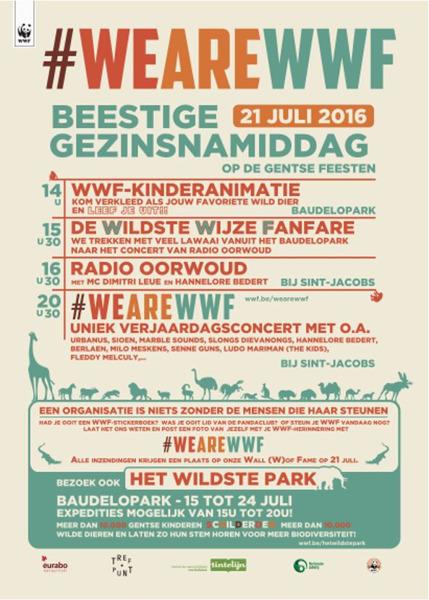 Preview: #WEAREWWF = Op 21 juli duikt WWF in het geheugen van haar vele steungevers op de Gentse Feesten