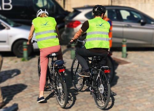 A vélo dans le trafic
