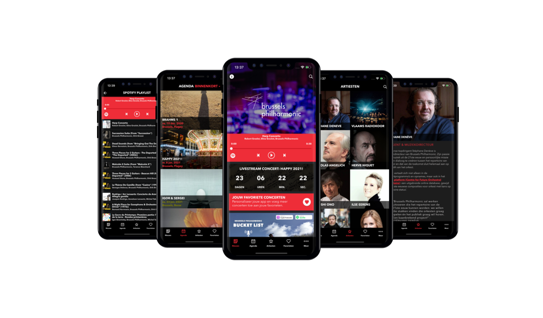 Primeur in België: orkest brengt eigen app uit
