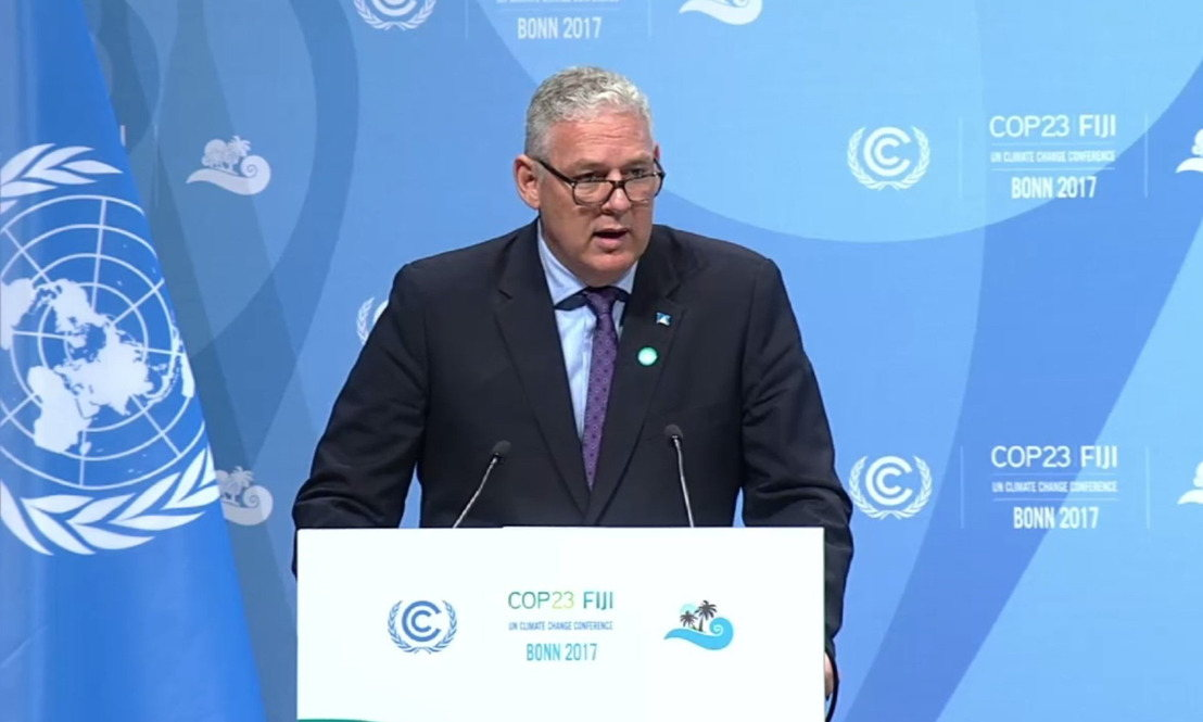 Prime Minister Chastanet addresses the Joint High Level Segment at COP23