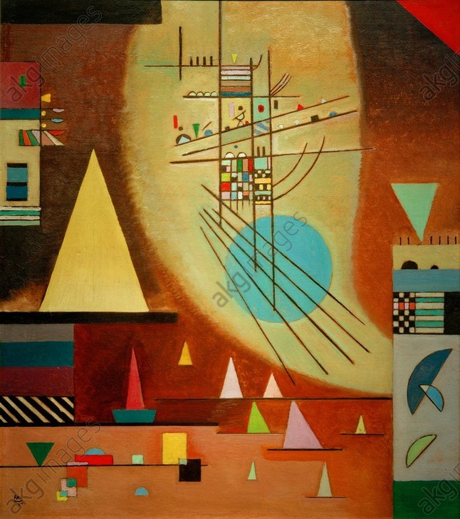 "Wassily Kandinsky, ""Falling silent"", 1924<br/>AKG566519"