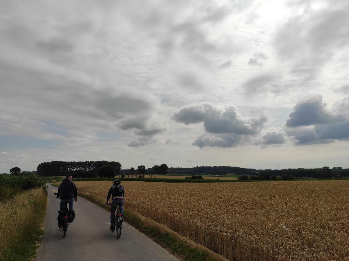 Panorama's op de Bree-Eikweg in Lennik. Deze straat zal ook deel uitmaken van de route