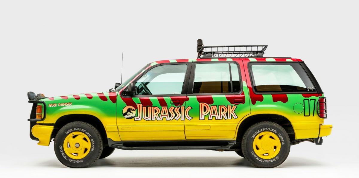 Réplica del Ford Explorer XLT Tour Vehicle #07 de Jurassic Park (1993) Crédito: Museo Petersen del Automovilismo