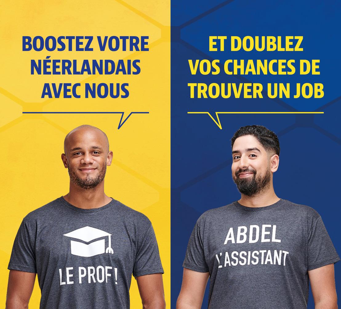 Vincent Kompany et Abdel en Vrai enseignent le néerlandais aux chercheurs d'emploi