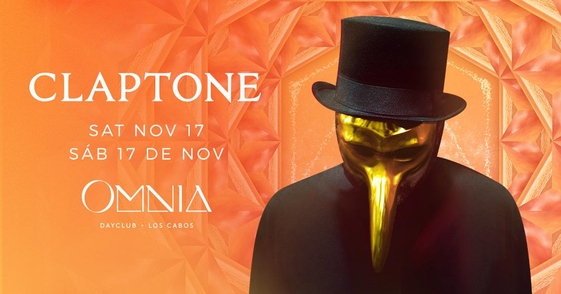 DJ CLAPTONE HARÁ SU DEBUT EN MÉXICO OMNIA DAYCLUB EN SAN JOSE DEL CABO