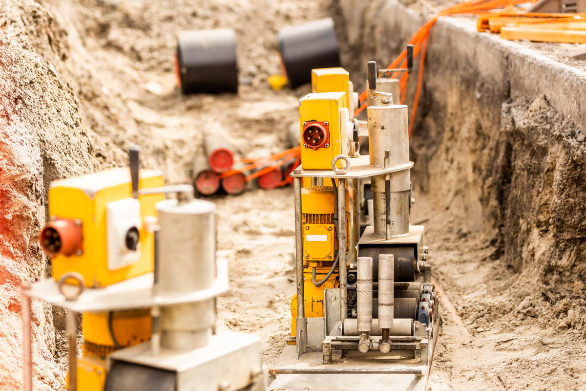 Een speciale duwtechniek beschermde de kabels bij de aanleg