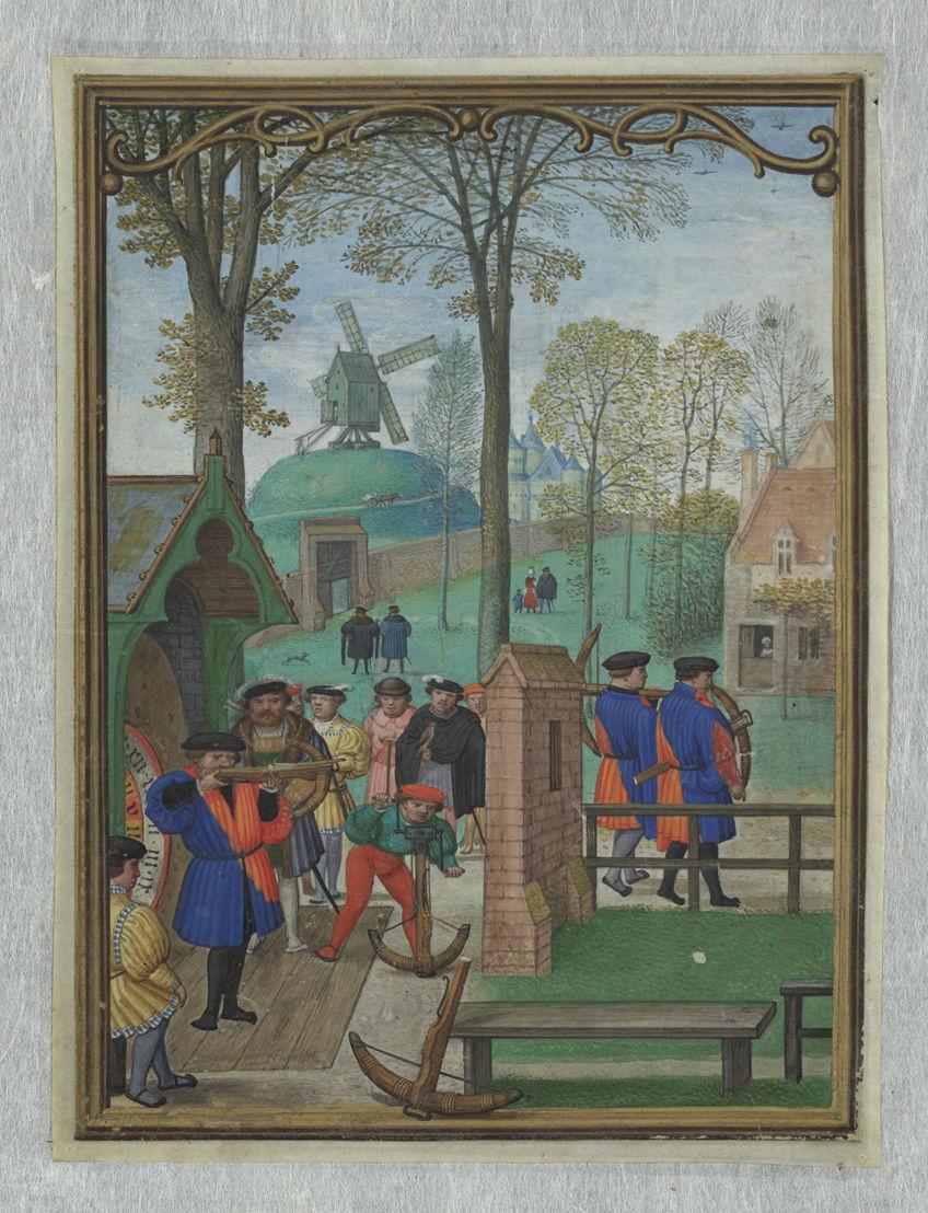 Septembre, Simon Bening, dans Le livre d'Heures d'Hennessy, Bruges, ca 1530, Bibliothèque royale de Belgique, Cabinet des Manuscrits, II 158, fol.11v.