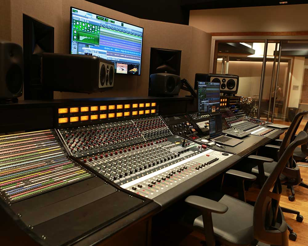 View from Control Room into Live Room