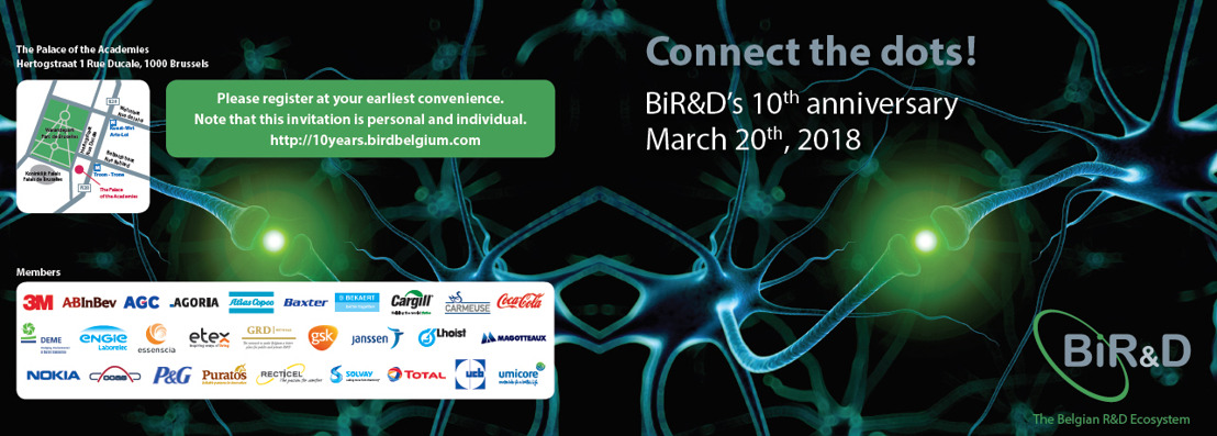 Persuitnodiging: Connect the dots – BiR&D 10th anniversary (20 maart)