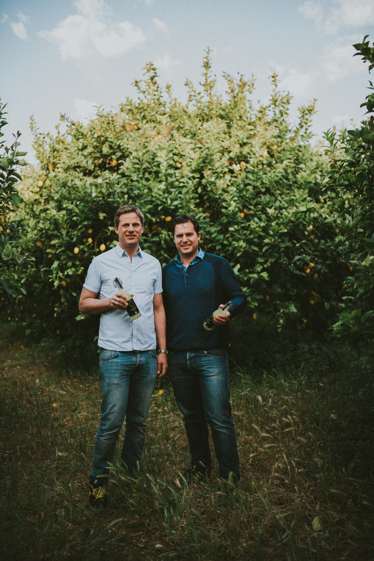 Fouders Benno & Franco in citroenvelden Sicilië