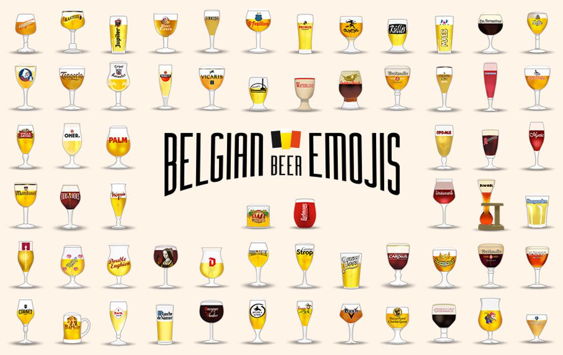 Vergeet de stereotiepe bierbokaal: hier zijn de Belgische bieremoji's