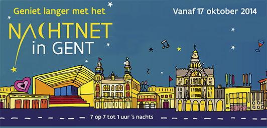 Campagnebeeld nieuwe nachtnet De Lijn in Gent
