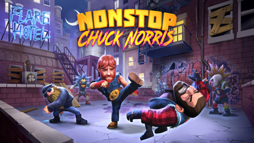 "flaregames ""persuaded"" by movie star Chuck Norris to make new game, begins production immediately"