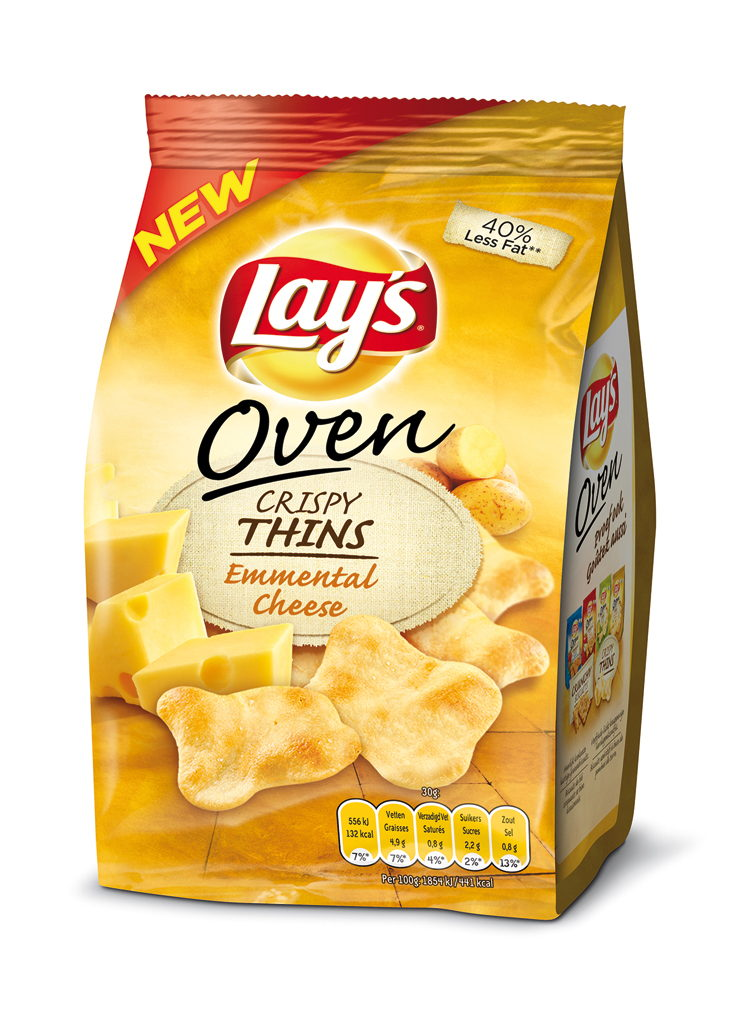 Lay's Oven Crispy Thins Emmental Cheese