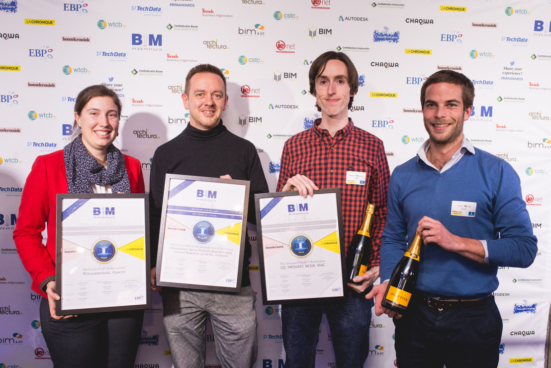 BESIX takes six prizes at the first Benelux BIM Awards