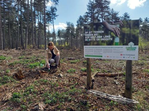 Provincie installeert de droogtemeters voor CurieuzeNeuzen in de Tuin