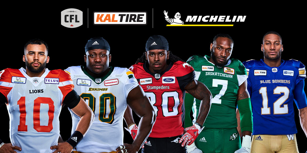 Kal Tire and Michelin jersey patch for West Division Teams.
