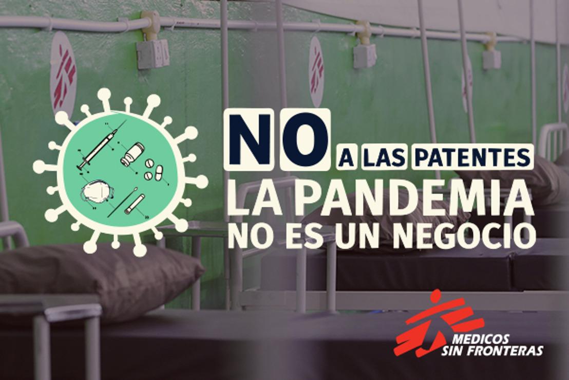 MSF reclama a los países que construyan un consenso en el seno de la OMC y respalden la histórica propuesta para suspender las patentes durante la pandemia