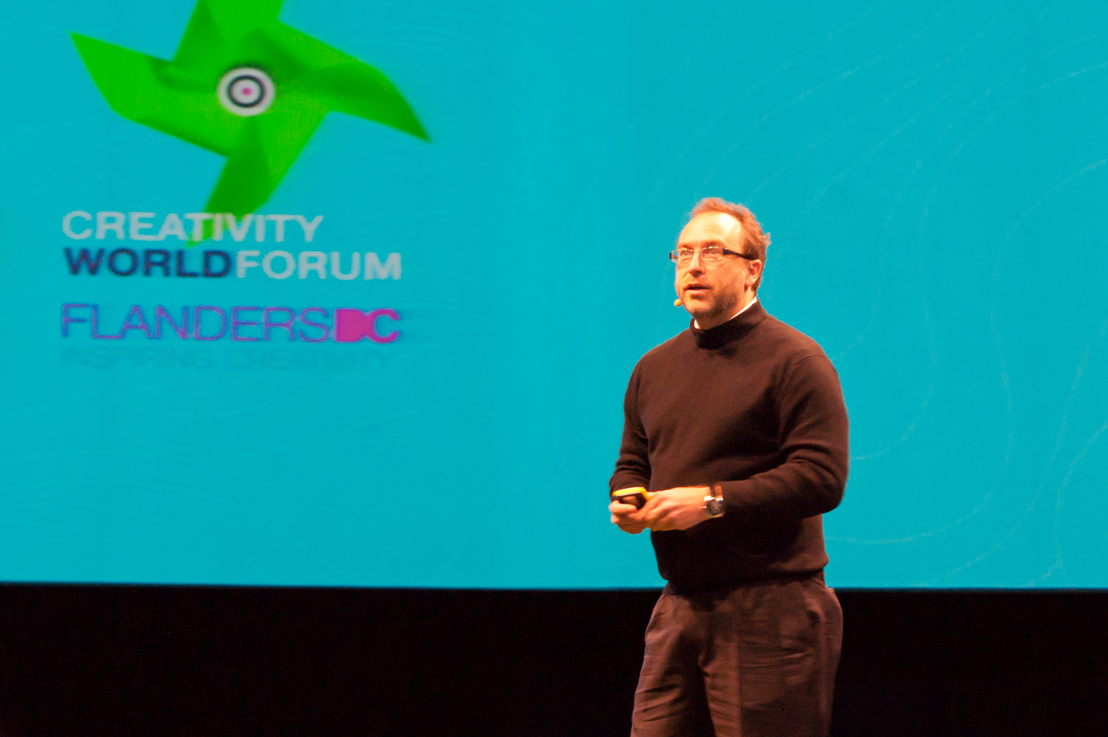 Jimmy Wales, CWF 2011 in Hasselt.