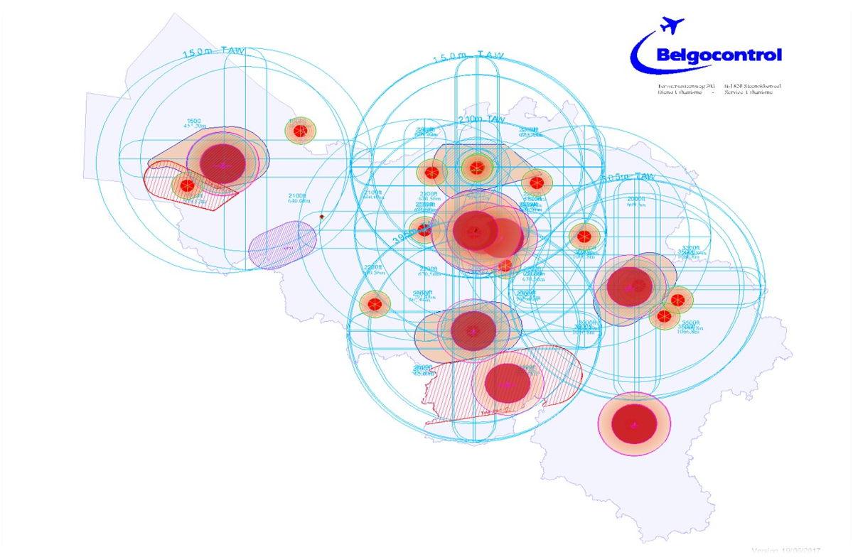 The new survey map of Belgocontrol