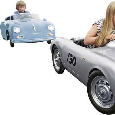 Porsche 356 Speedster y Porsche 550 Spyder en miniatura