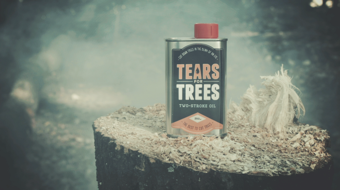 Tears for Trees. Laat illegale houthakkers nadenken… met tranen.