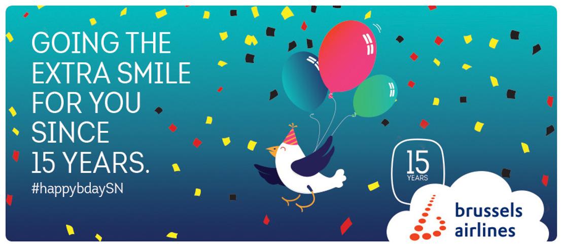 Brussels Airlines viert haar vijftiende verjaardag
