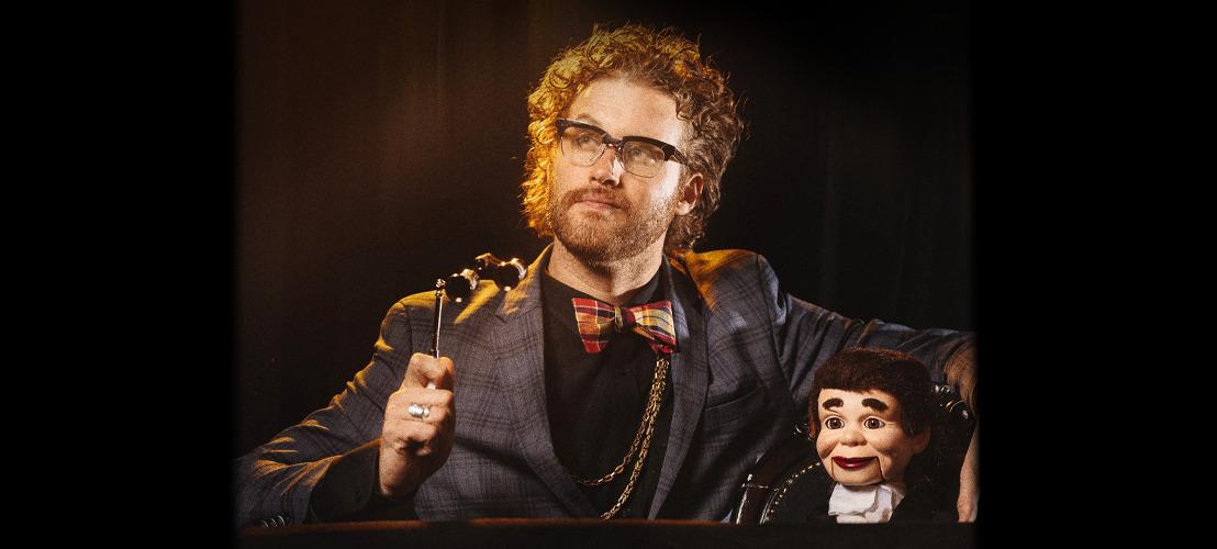 Acteur en comedian T.J. Miller in Antwerpen op 26 mei