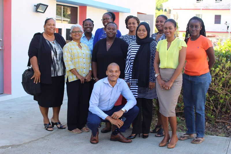 Educators and the CXC Notemaster implementation team in the British Virgin Islands
