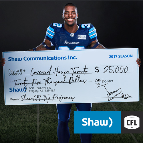 SHAW CELEBRATES WILDER, REILLY AND BANKS WITH $50,000 DONATION TO CHILDREN'S CHARITIES IN CANADA