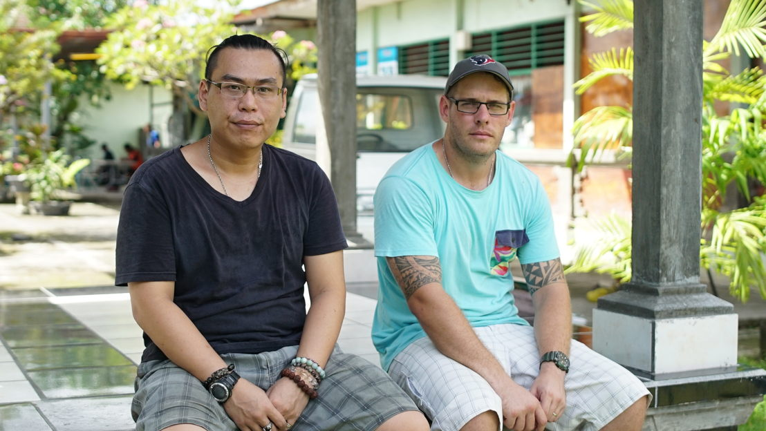 Bali Nine pair - lifers Si Yi Chen and Matthew Norman (Photo credit: Phil Hemingway)