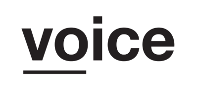 Voice Agency perskamer Logo