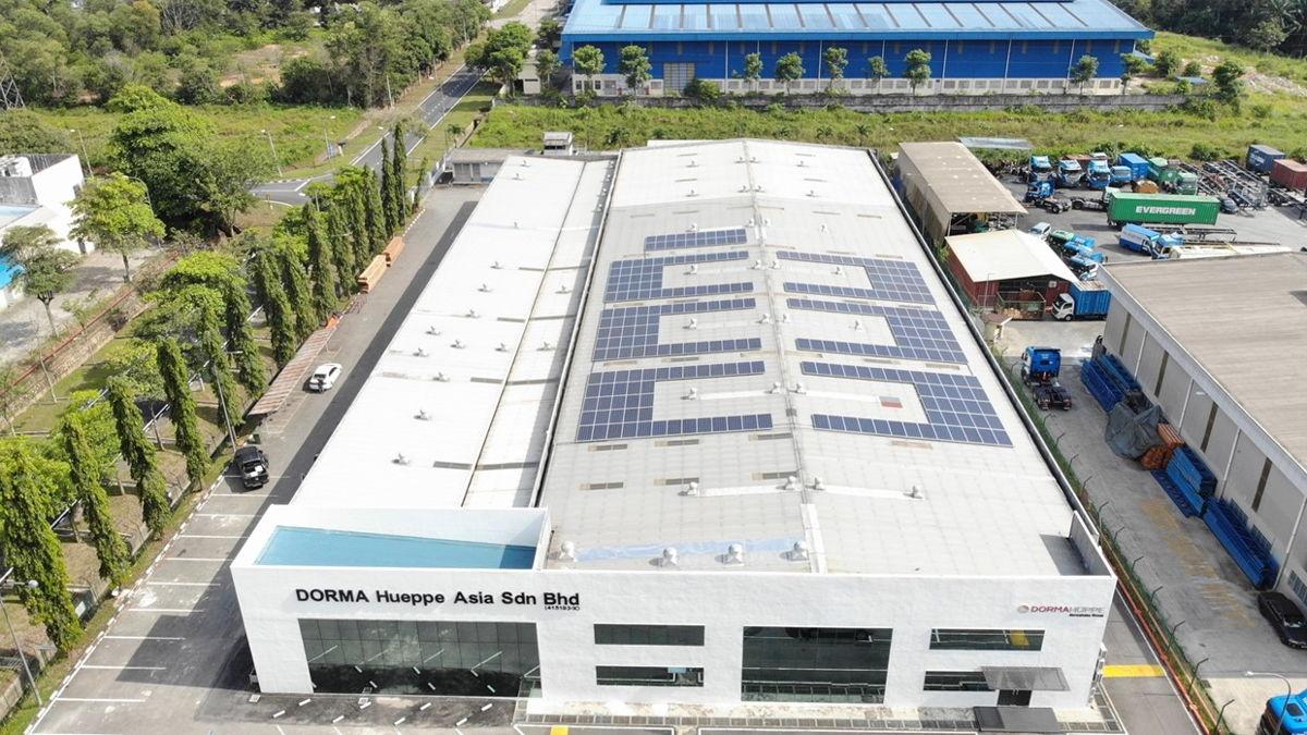 The rooftop solar panel installation in Senai, Malaysia
