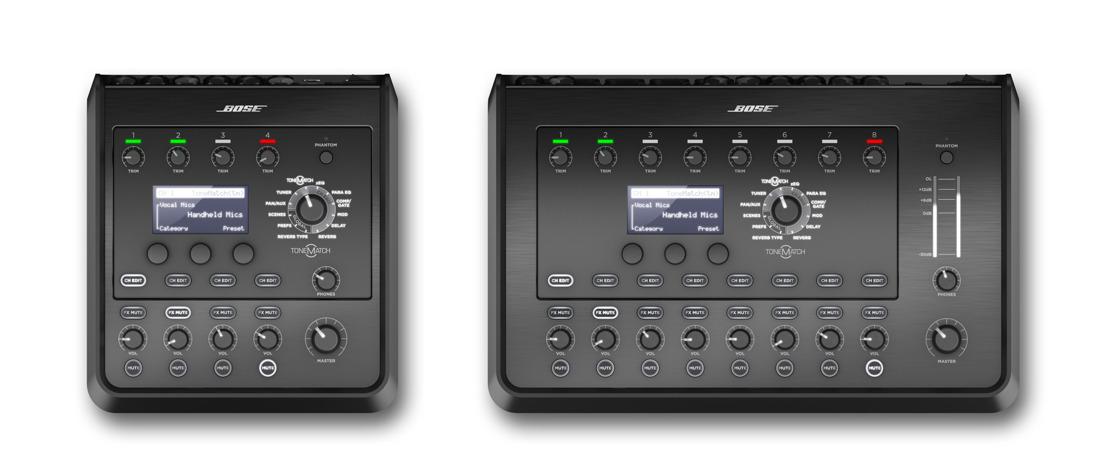 Bose Profesional anuncia la disponibilidad de las poderosas mezcladoras estéreo T8S y T4S ToneMatch®