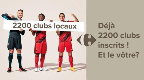 Preview: Carrefour et les Diables Rouges soutiennent les clubs sportifs amateurs : déjà 2200 clubs inscrits et 1 million de codes de soutien distribués aux clients