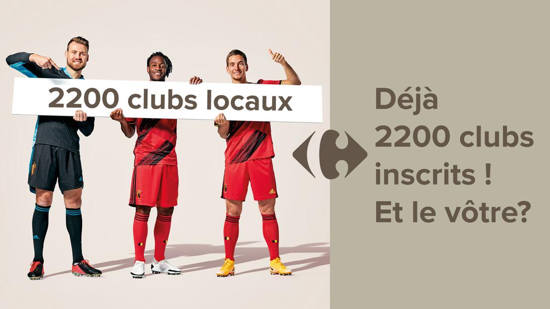 Carrefour et les Diables Rouges soutiennent les clubs sportifs amateurs : déjà 2200 clubs inscrits et 1 million de codes de soutien distribués aux clients