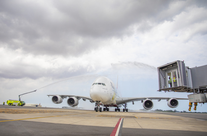 Emirates joins Ghana in making aviation history: One-off A380 lands in Accra