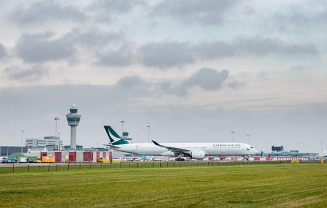 Cathay Pacific vliegt als eerste met de Airbus A350-1000 vanaf Schiphol