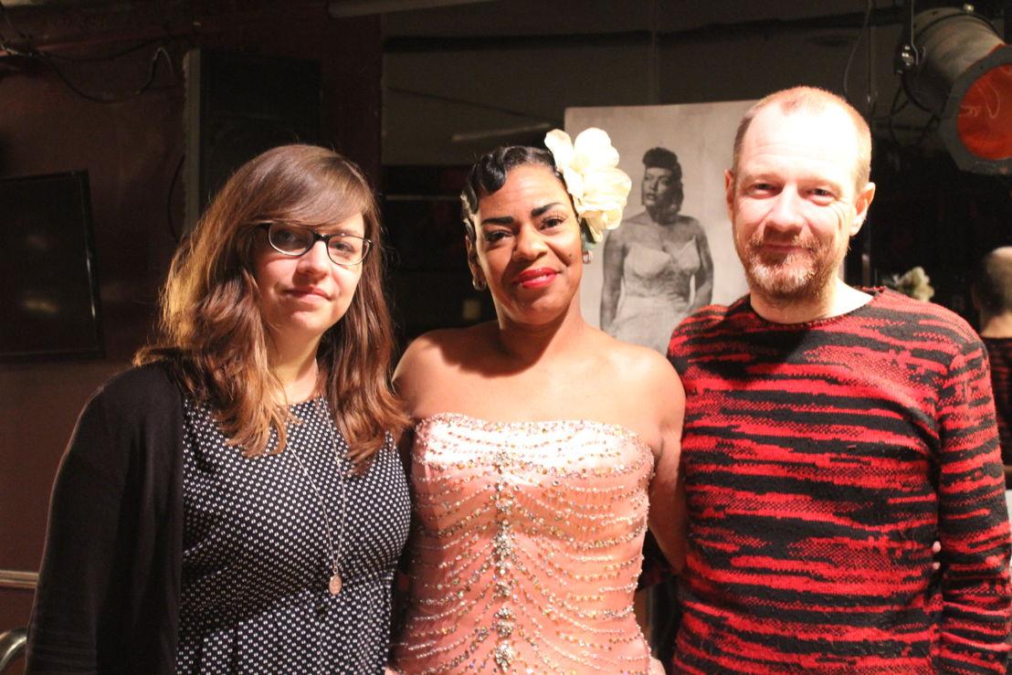 """Annelies Moons, """"Princess Billie"""" en Kurt Overbergh in New York (c) VRT - Leen Van Severen"""