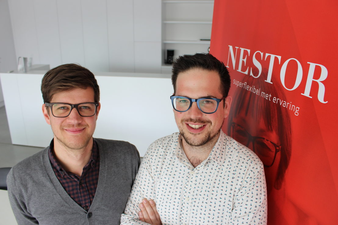 Mathieu Vandenhende en Nicolas Moerman, oprichters Nestor