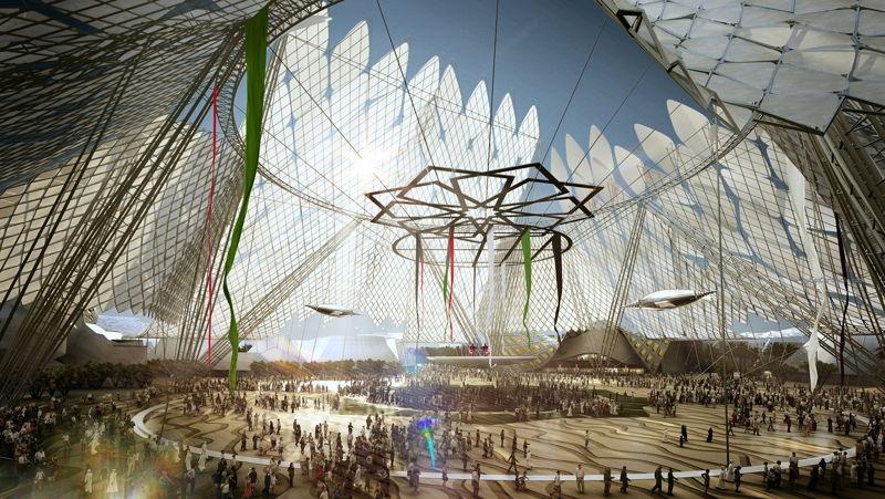 Architectural Impression of Al Wasl Plaza Expo 2020 Dubai