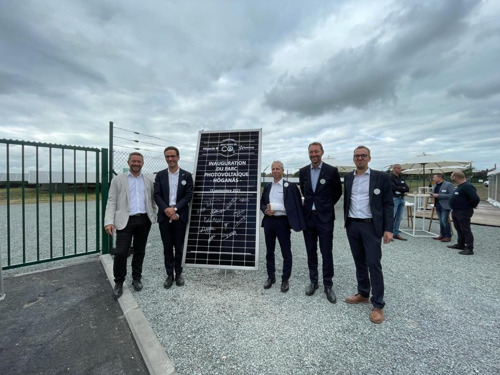 Inauguration of a solar park of nearly 30,000 m² at Höganäs, the largest ever constructed by Dauvister