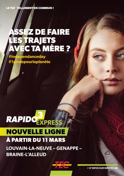 Preview: A partir du 11 mars, le Rapidobus 3 devient le Rapido 3 Express et la ligne 39 !