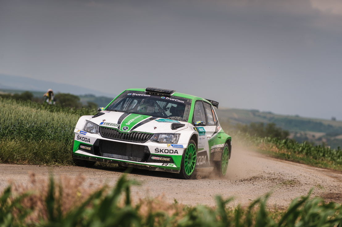 Pontus Tidemand/Jonas Andersson (ŠKODA FABIA R5) are aiming for a prematurely World Rally Championship title (WRC 2) at ADAC Rallye Deutschland