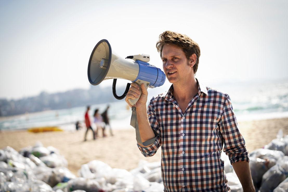 Craig with megaphone